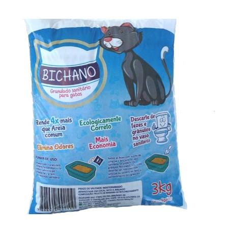 Bichano Granulo Sanitário Para Gatos - 3kg