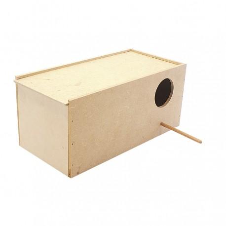 Ninho para calopsitas em madeira MDF