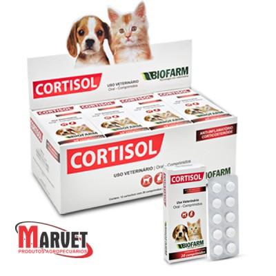Cortisol - antiinflamatório e corticosteroide - 10 comprimidos