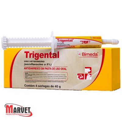 Trigental - antibiótico oral para diarréia bacteriana  40 g