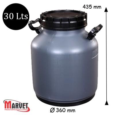 Tarro Latão Para Leite De Plástico Milkan - 30 Lt