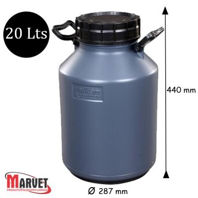 Tarro Latão Para Leite De Plástico Milkan - 20 Lt