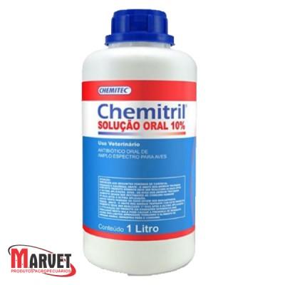 Chemitril 10% Enrofloxacino Antibiotico Coriza Gogo Aves 1lt
