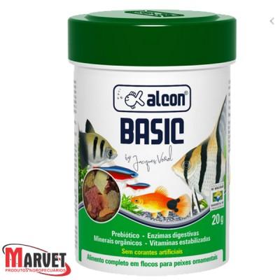 Ração alcon basic - Alimento floculado para todas as espécies de peixes 20g