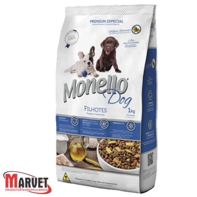 Ração para cães - Monello Dog Filhotes 15kg