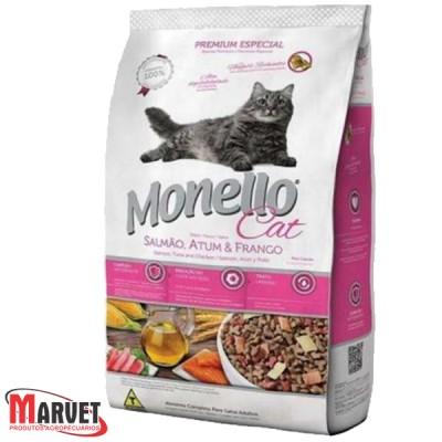 Ração para Gatos - Monello Cat Salmão, Atum & Frango - 15 kg