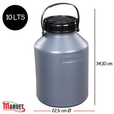 Tarro Latão Para Leite De Plástico Milkan - 10 Lt