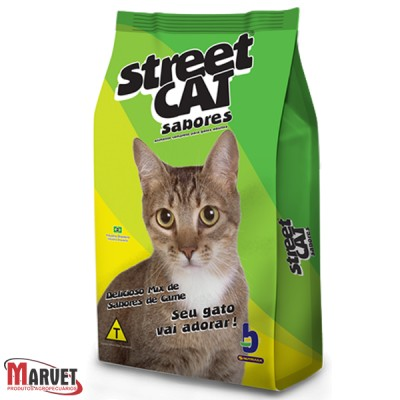 Ração para gatos STREET CAT- 25 kg