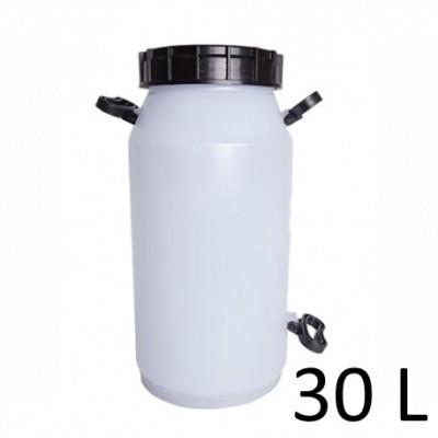 Tarro para leite Vasilhame Sgamaq branco Com Tampa  - 30L
