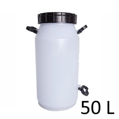 Tarro para leite vasilhame Sgamaq Branco Com Tampa - 50L