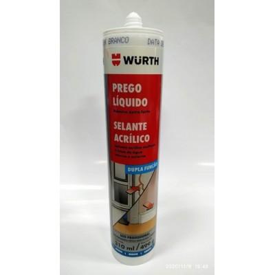 Prego Líquido selante acrílico dupla função wurth - 300 ml