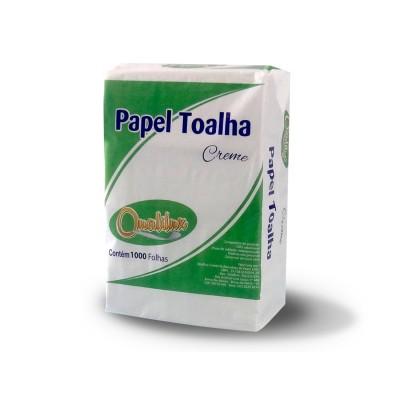 Papel Toalha Interfolhado – Creme – 1.000 Folhas